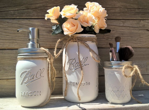 bathroom decor ball mason jar bathroom decor painted mason