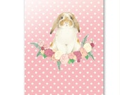 French Lop Rabbit Greetings Card