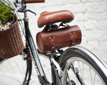 Leather Bike Saddle Bag By Vida Vida