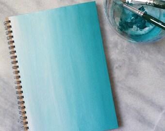 Handmade Ombre Spiral Bound Notebook