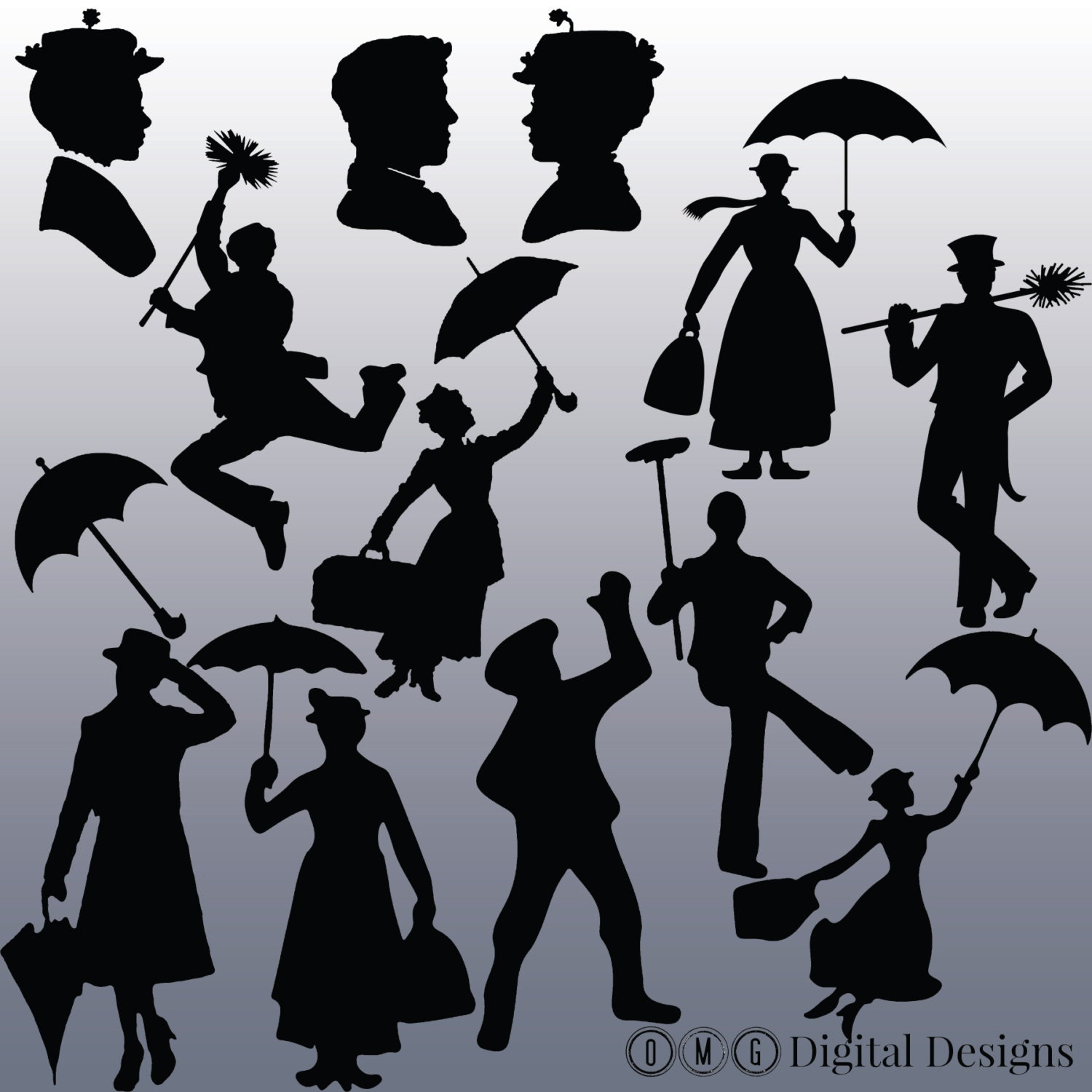 Mary Poppins Chimney Sweep Silhouette Images Mary Poppins Silhouett...