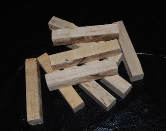 """Spalted Maple pen turning blanks, 1"""" X 1"""" X 6"""", wood working supplies, wood turning supplies"""