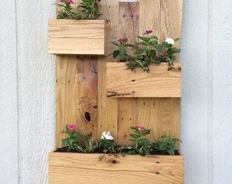 Oak Hanging Planters