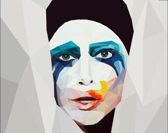 Lady Gaga Geometric Portrait (Applause Cover)