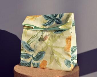 Floral cotton lunch bag