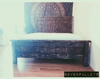 Custom Reclaimed Wood Bed Frame