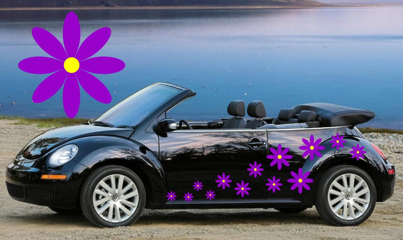 20purple Daisy Flower Car Decalsstickers In Three Sizespurple
