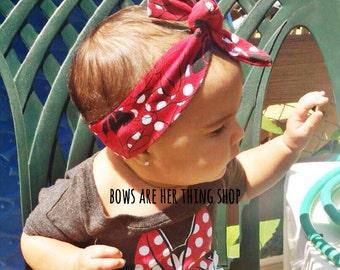 MINNIE BOWS top knot