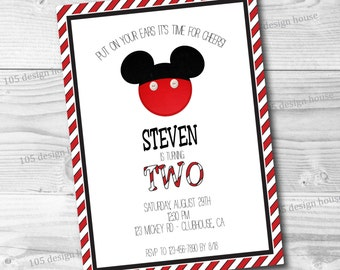 Mickey Mouse Invitation Printable - Mickey Mouse Party - Mickey Mouse Clubhouse - Customizable for any type of party