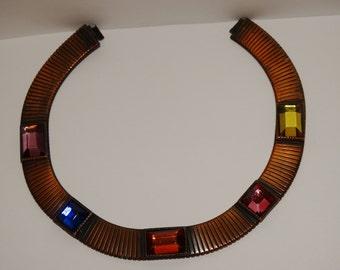 "Vintage Slinky Copper 18"" Necklace."