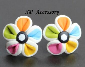 Earrings Flower, earrings clay, jewelry earrings, flower earrings, sweet flower