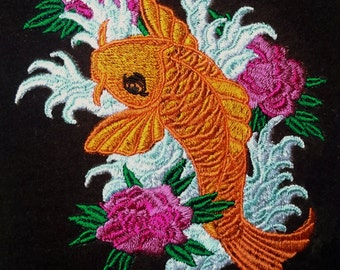 Machine Embroidery Design – Tattoo Koi Fish (2 in 1)