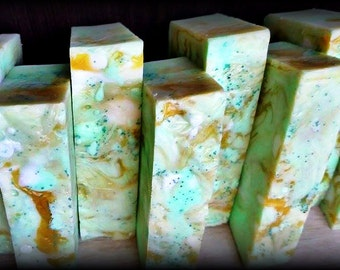 White opal soap scented in Coconut lime verbana