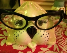 vintage dog glasses holder kitsch glasses not included
