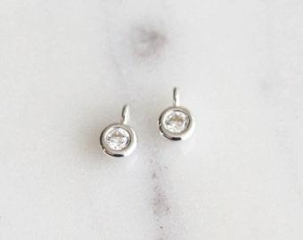 P1-967-SS] Cz Cubic / 3mm / Sterling Silver / Pendant / 1 piece(s)