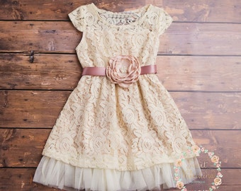 Country Flower Girl Dress Toddler Dresses Little Girl
