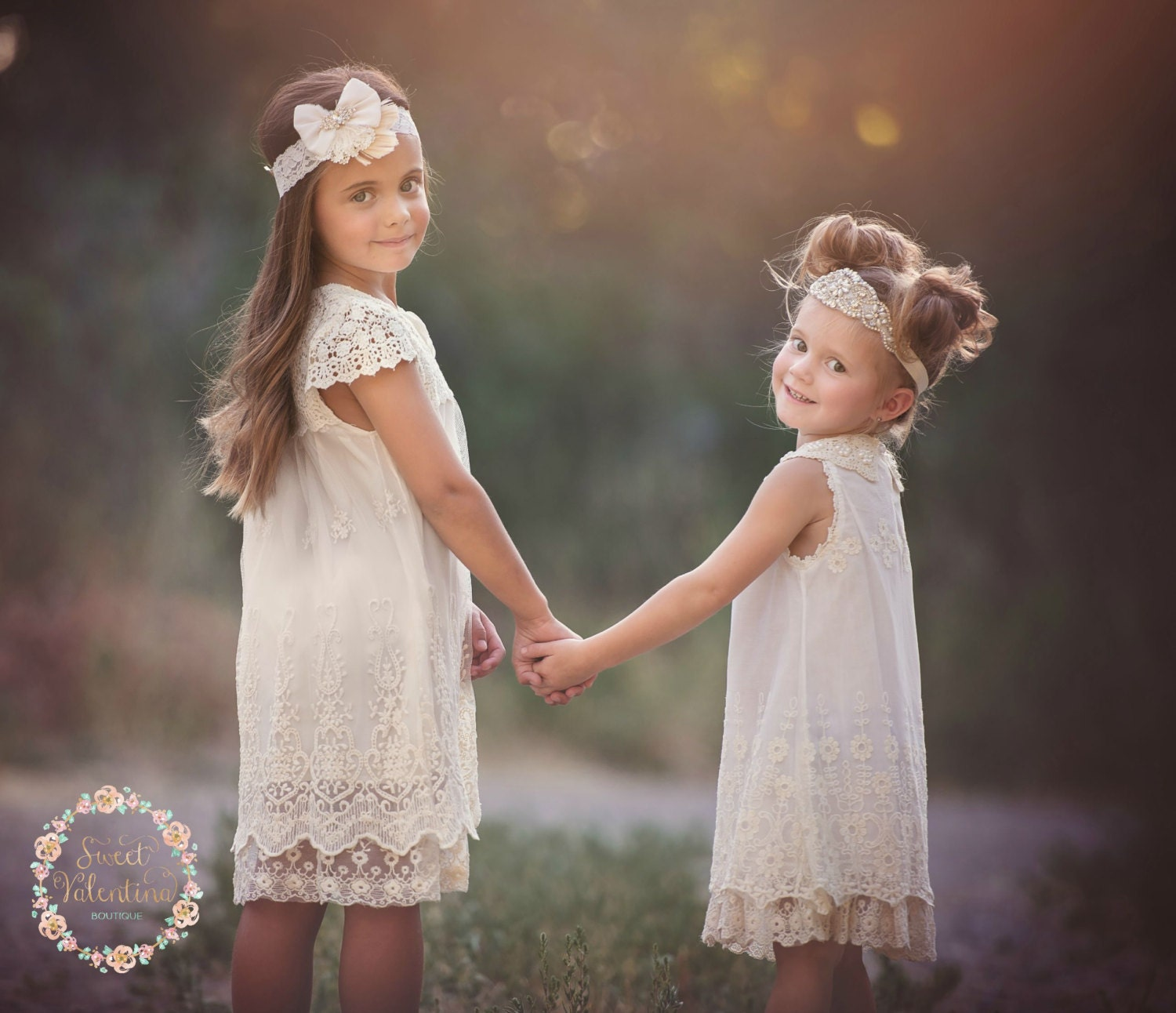 Flower Dress: Flower Girl Dress Ivory Lace Dressrustic Flower By
