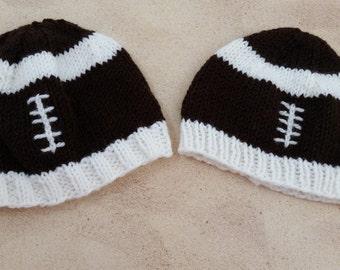 Football Hat - Football Baby Hat - Football Beanie - Newborn Football Hat - Kids Football  Hat- Baby Football Hat - Adult Football Hat