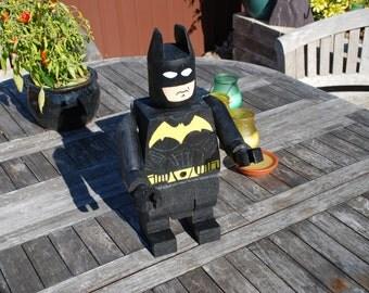 A unique handmade wooden figure (Batman)