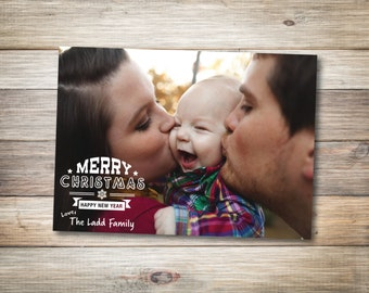Merry Christmas Photo Card - DIGITAL DOWNLOAD