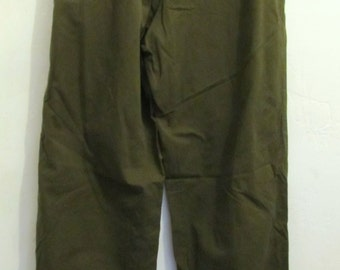 Mens Vintage 80's,Pleated Olive Green HAMMER era Chino Cotton Pants By PATAGONIA.36L