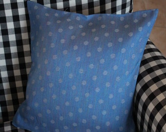 Blue Polka Dot Pillow Case