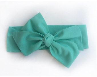 Sea foam green headwrap