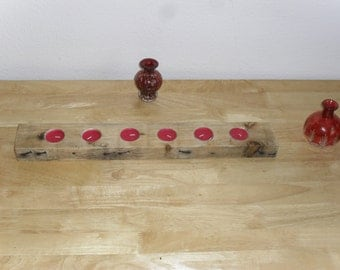 Pallet wood candle holders,candle holders, reclaimed wood holders , pine candle holders