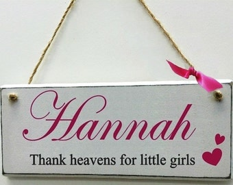 Girls Name Plaque for doors and walls. A beautiful gift