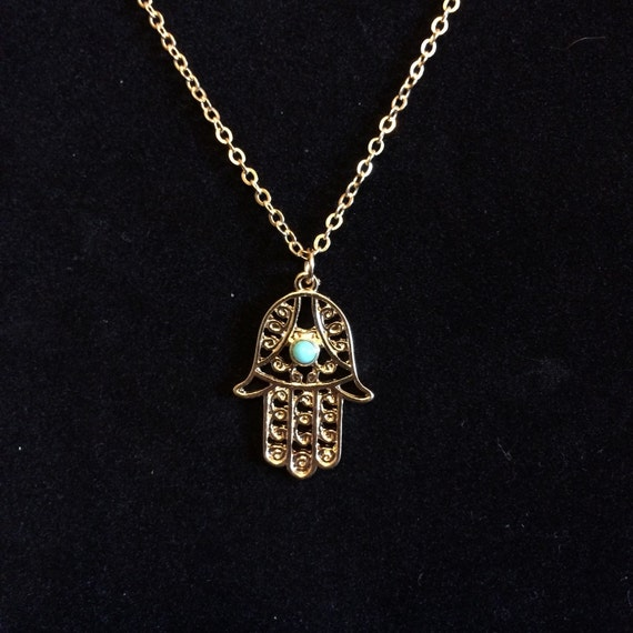 gold hamsa necklace gold plated of fatima necklace