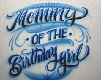 Airbrushed Birthday shirt