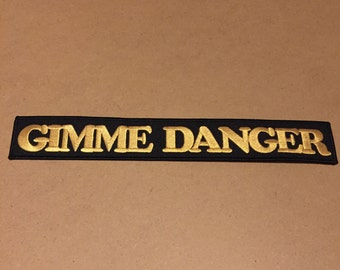 """Gimme Danger Stooges embroidered patch 11"""" long"""
