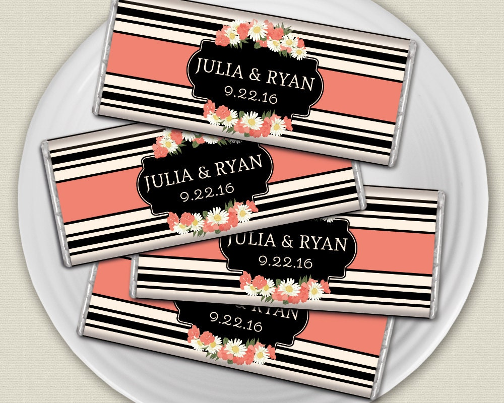 Flower Wedding Favors Personalized Candy Wrappers For By Whprints