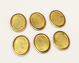 Oval Brass Blanks Made in USA, Geometric Findings, Vintage Jewelry Components (FDS-111)