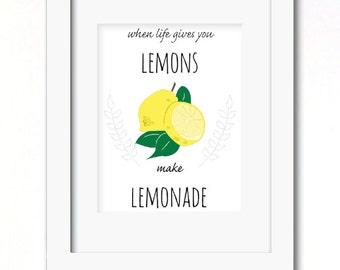 A4 lemonade print