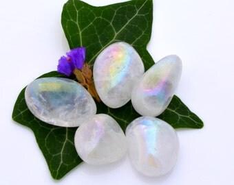 Angel aura tumblestone, angel aura quartz crystal