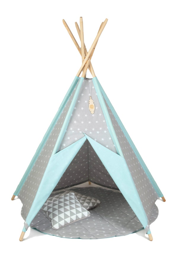 items similar to tipi kids play teepee sale tent wigwam zelt tente playtent kids teepee. Black Bedroom Furniture Sets. Home Design Ideas