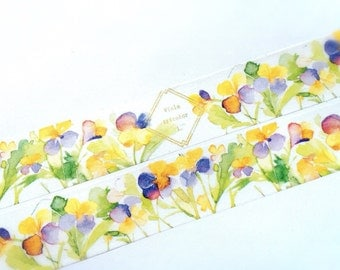 Tricolor pansy washi tape (T0029)