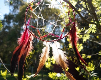 Handmade Dream Catcher | Orange and Red Dreamcatcher