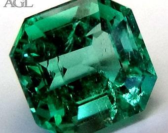 Loose emerald , Emerald Gemstone , Colombian Natural Emerald , Green Emerald , AGL