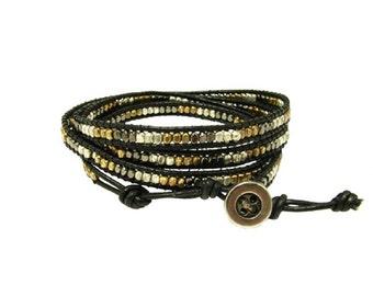 Metallic Wrap Cord Bracelet