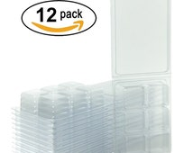 Empty Plastic Clamshell Wax Molds Containers Tart Packaging - Pack of 12 - 2.8oz