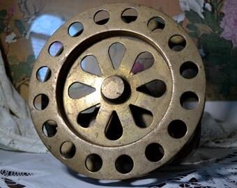 Brass Industrial Pulley Reel