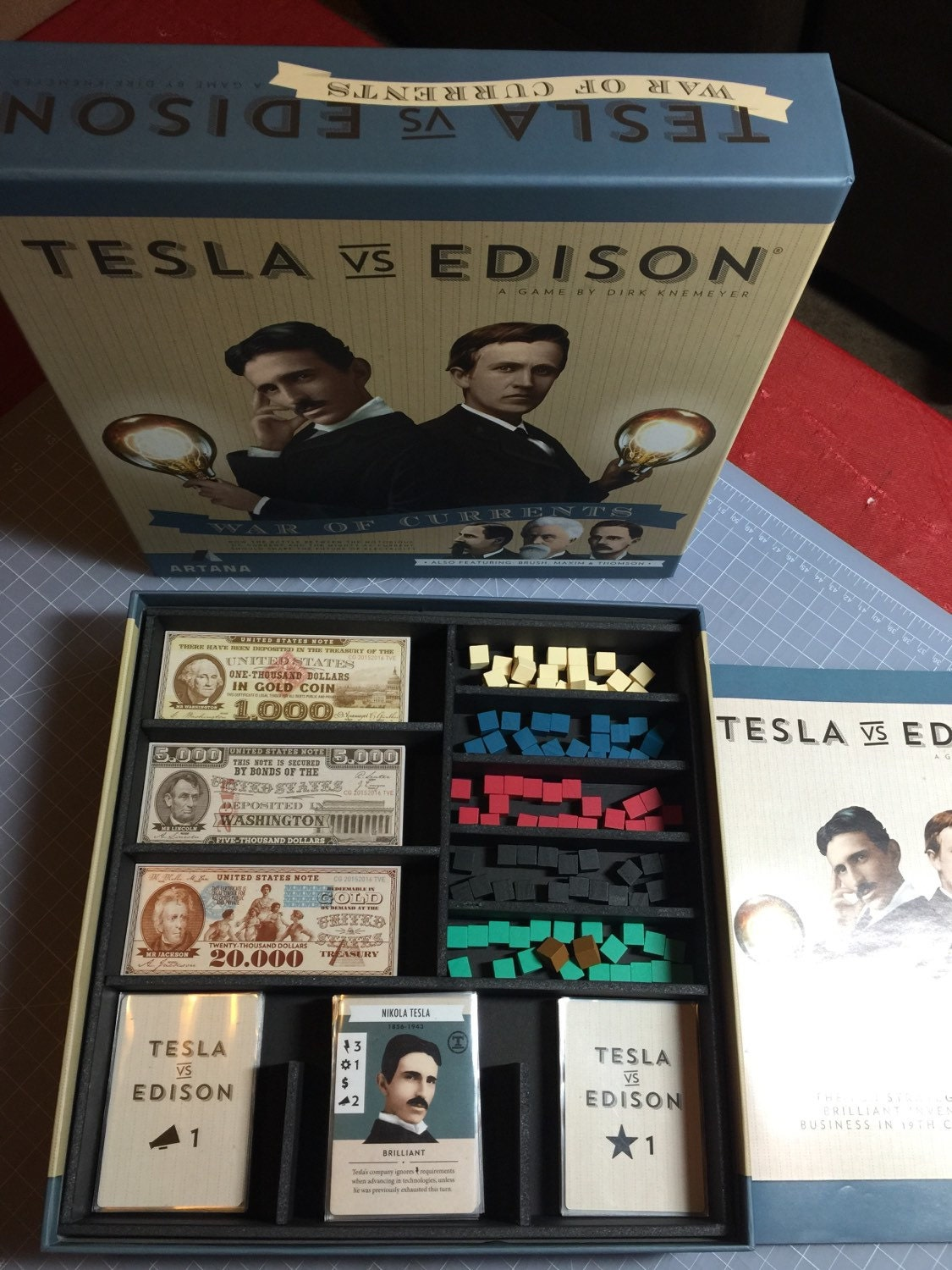 Tesla vs. Edison: War of Currents Review   Board Game Quest