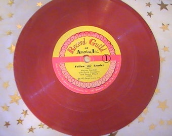"""Vintage Record Guild Children's Record """"Follow the Leader"""""""