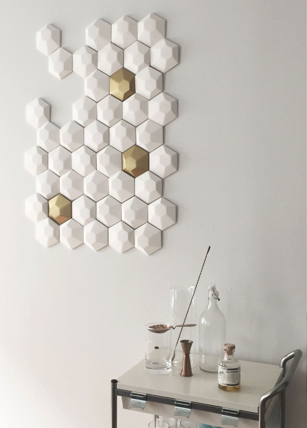 3d wall art hexagon tiles. Black Bedroom Furniture Sets. Home Design Ideas