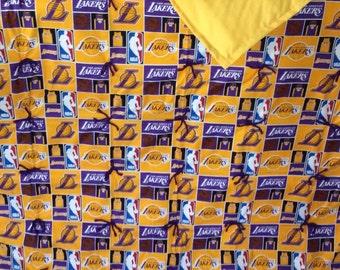 LA Laker blanket.