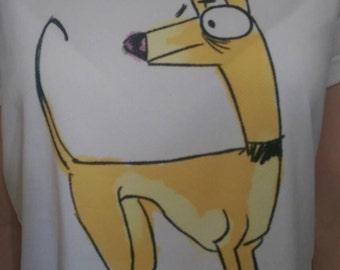 Greyhound cartoon style image