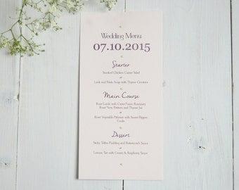 Elegant Lace Wedding Menu