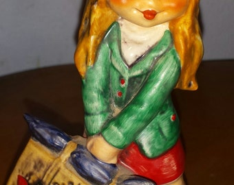 Goebel Children of Paris Traveling Girl Figurine